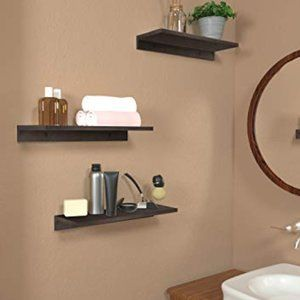 New Set of 2 15-inch Wood Floating Shelves